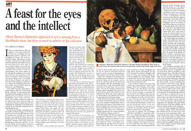Article Preview: A feast for the eyes and the intellect, September 1994 | Maclean's