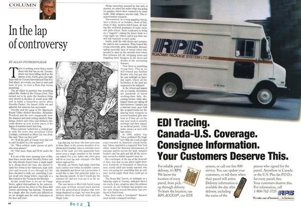 Article Preview: In the lap of controversy, September 1994 | Maclean's