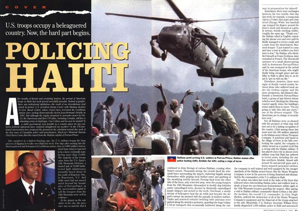 Article Preview: POLICING HAITI, October 1994 | Maclean's