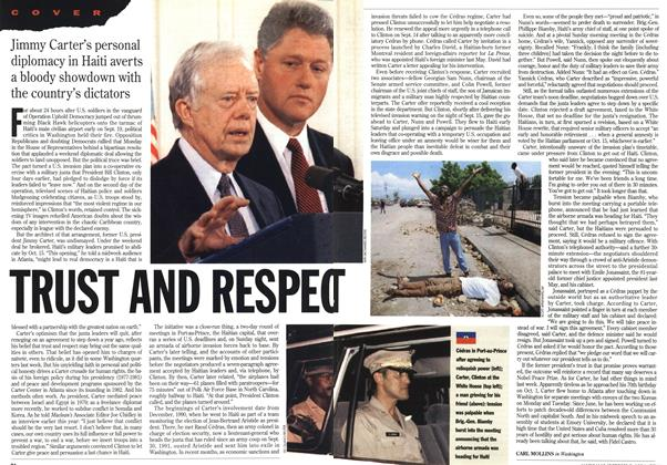 Article Preview: TRUST AND RESPECT, October 1994 | Maclean's