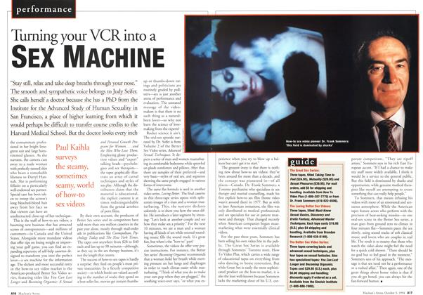 Article Preview: Turning your VCR into a SEX MACHINE, October 1994 | Maclean's