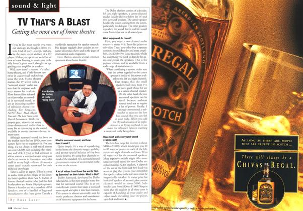 Article Preview: TV THAT'S A BLAST, October 1994 | Maclean's