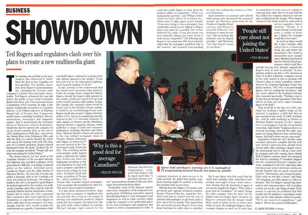 Article Preview: SHOWDOWN, October 1994 | Maclean's