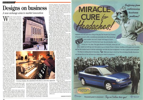 Article Preview: Designs on business, October 1994 | Maclean's