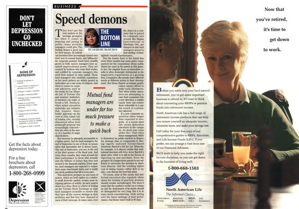 Article Preview: Speed demons, October 1994 | Maclean's