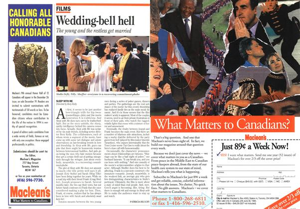 Article Preview: Wedding-bell hell, October 1994 | Maclean's