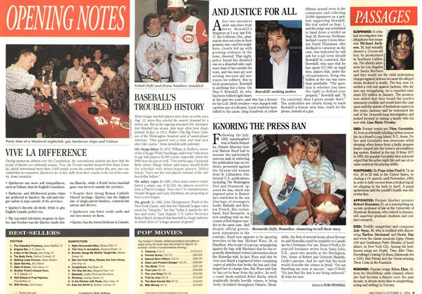 Article Preview: IGNORING THE PRESS BAN, October 1994 | Maclean's