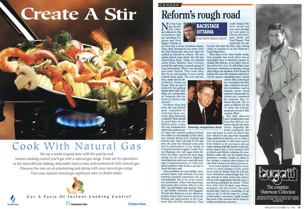 Article Preview: Reform's rough road, October 1994   Maclean's