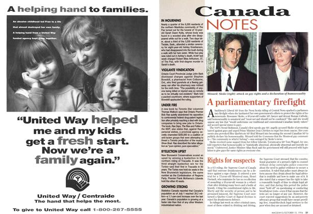Article Preview: A parliamentary firefight, October 1994 | Maclean's