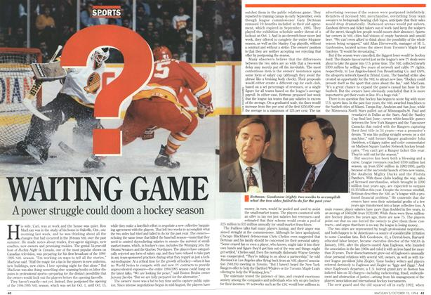 Article Preview: WAITING GAME, October 1994 | Maclean's
