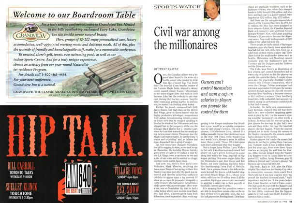 Article Preview: Civil war among the millionaires, October 1994 | Maclean's