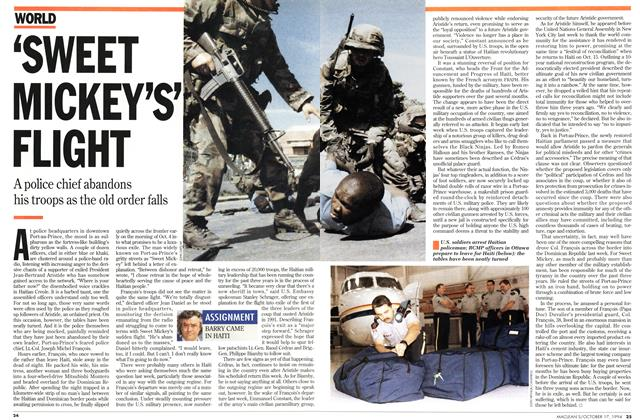 "Article Preview: ""SWEET MICKEY'S' FLIGHT, October 1994 
