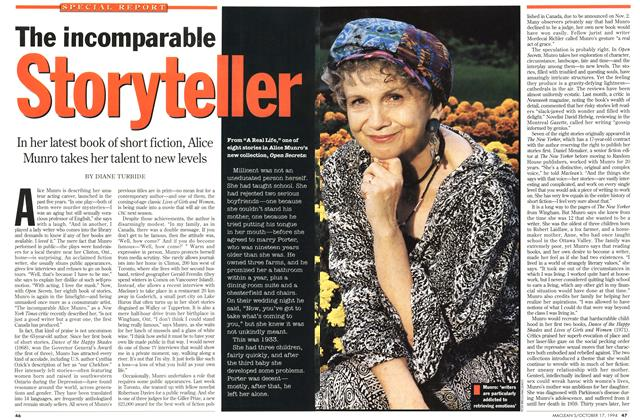 Article Preview: The incomparable Storyteller, October 1994 | Maclean's