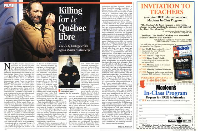 Article Preview: Killing for le Québec libre, October 1994 | Maclean's