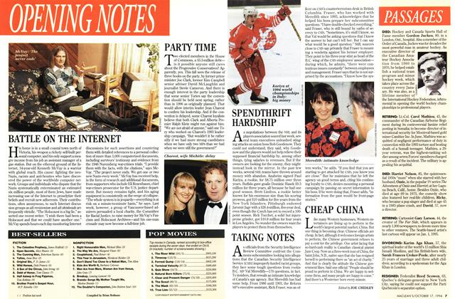 Article Preview: OPENING NOTES, October 1994 | Maclean's