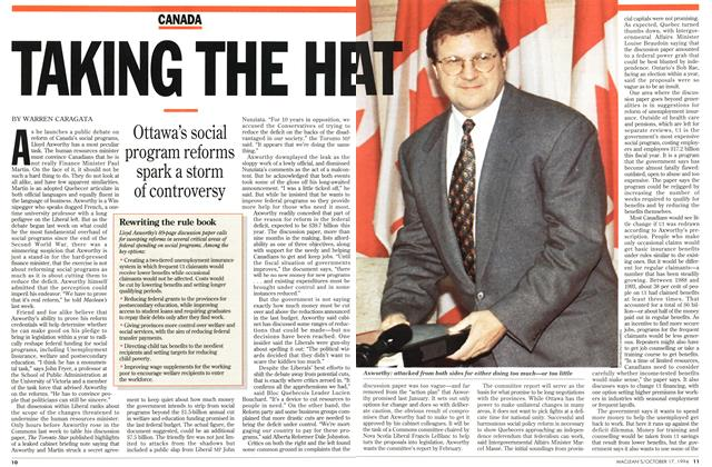 Article Preview: TAKING THE HEAT, October 1994 | Maclean's