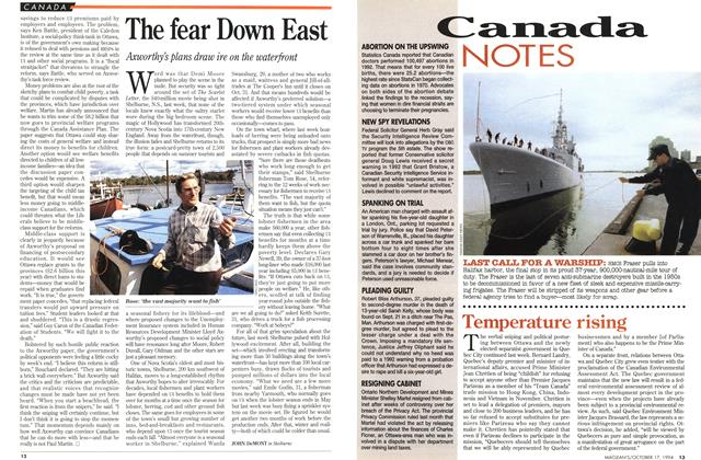 Article Preview: The fear Down East, October 1994 | Maclean's