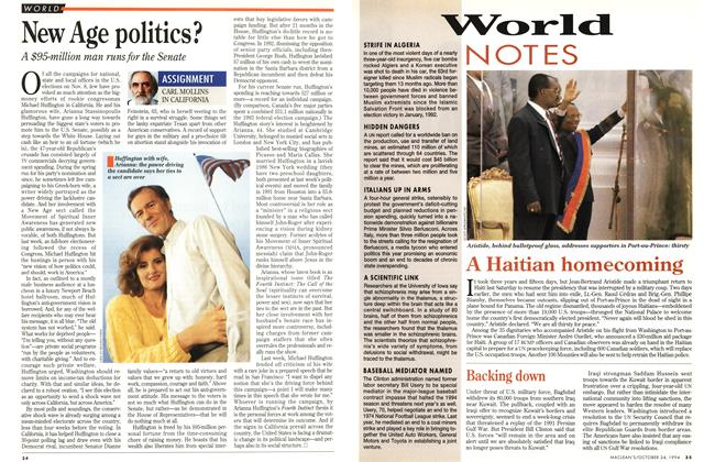Article Preview: New Age politics?, October 1994 | Maclean's