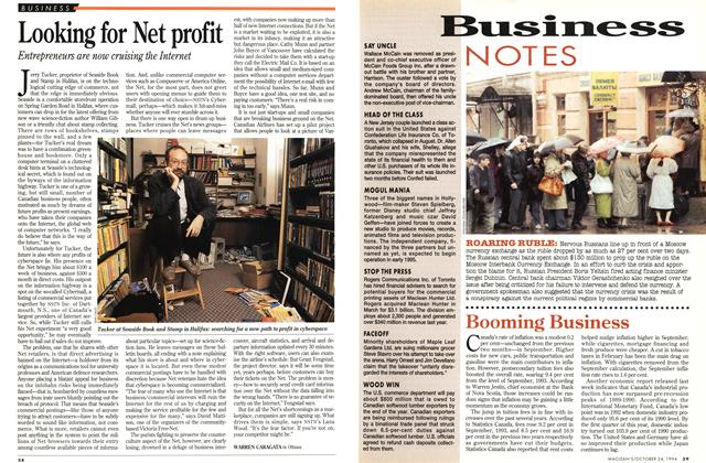 Article Preview: Looking for Net profit, October 1994 | Maclean's