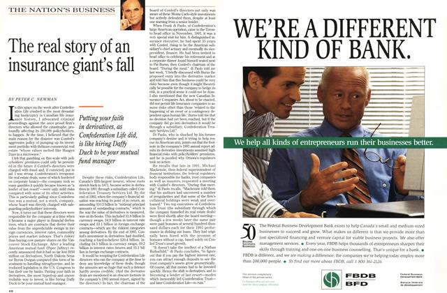 Article Preview: The real story of an insurance giant's fall, October 1994 | Maclean's