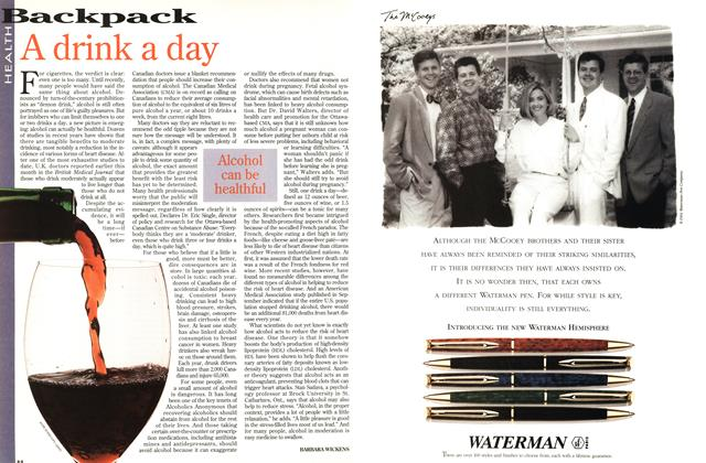 Article Preview: A drink a day, October 1994 | Maclean's