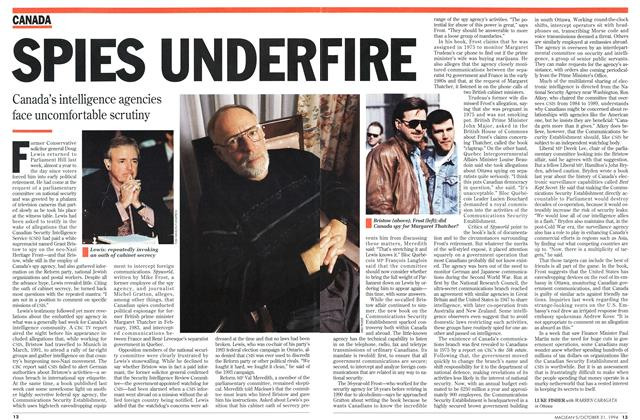 Article Preview: SPIES UNDER FIRE, October 1994 | Maclean's