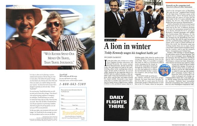 Article Preview: A lion in winter, October 1994 | Maclean's
