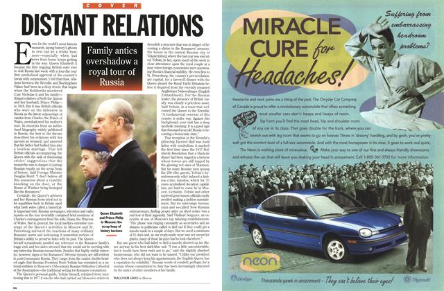 Article Preview: DISTANT RELATIONS, October 1994 | Maclean's