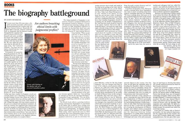 Article Preview: The biography battleground, October 1994 | Maclean's