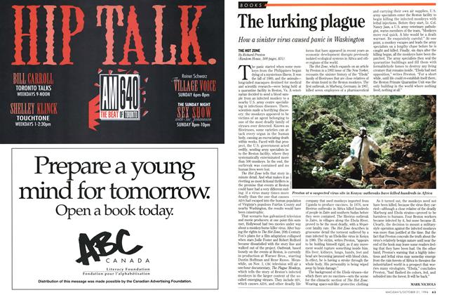 Article Preview: The lurking plague, October 1994 | Maclean's