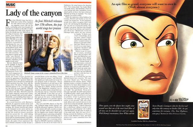 Article Preview: Lady of the canyon, October 1994 | Maclean's