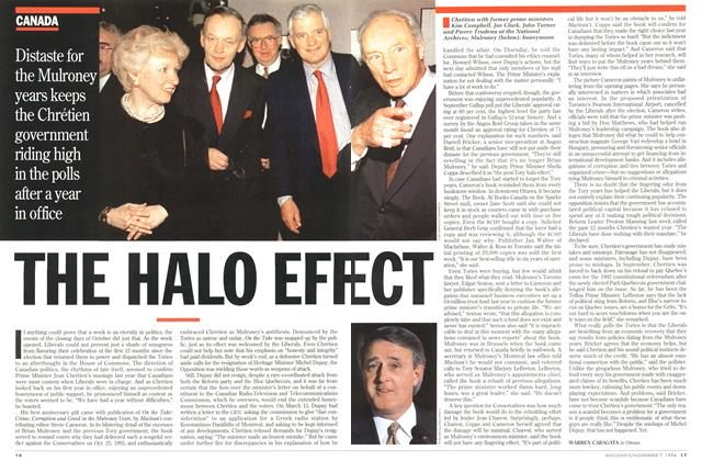 Article Preview: THE HALO EFFECT, November 1994 | Maclean's