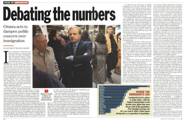 Article Preview: Debating the numbers, November 1994 | Maclean's