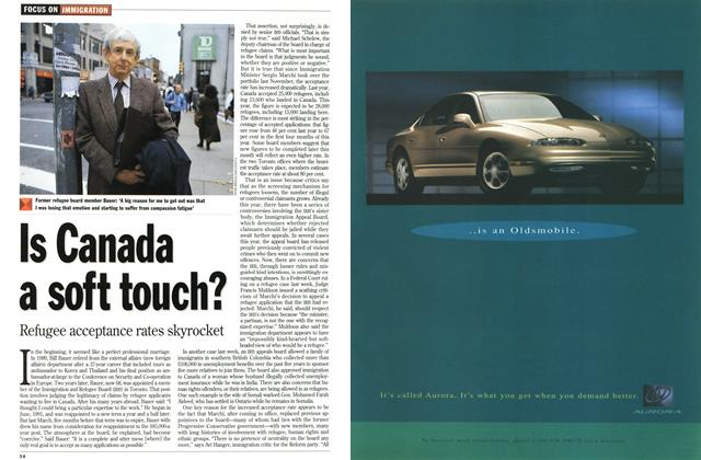 Article Preview: Is Canada a soft touch?, November 1994 | Maclean's