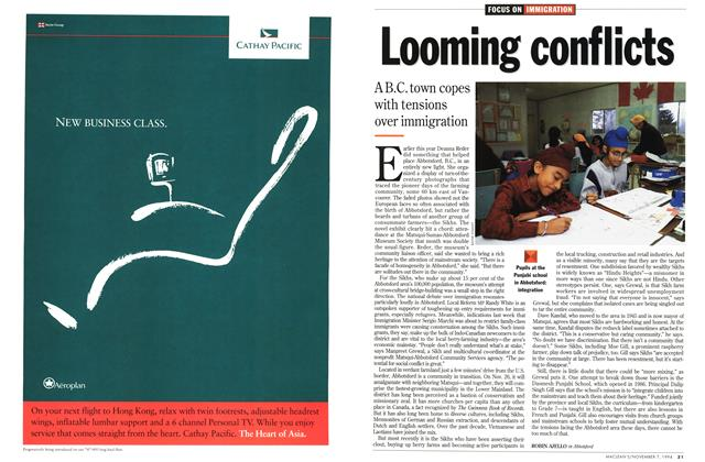 Article Preview: Looming conflicts, November 1994 | Maclean's