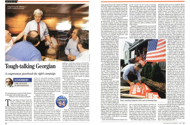 Article Preview: Tough-talking Georgian, November 1994 | Maclean's
