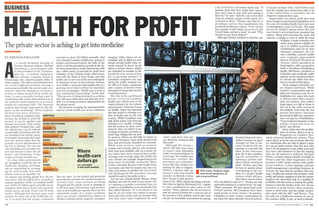 Article Preview: HEALTH FOR PROFIT, November 1994 | Maclean's