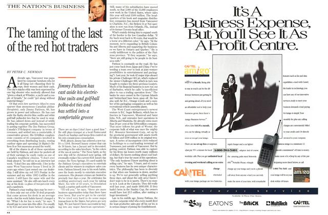 Article Preview: The taming of the last of the red hot traders, November 1994 | Maclean's