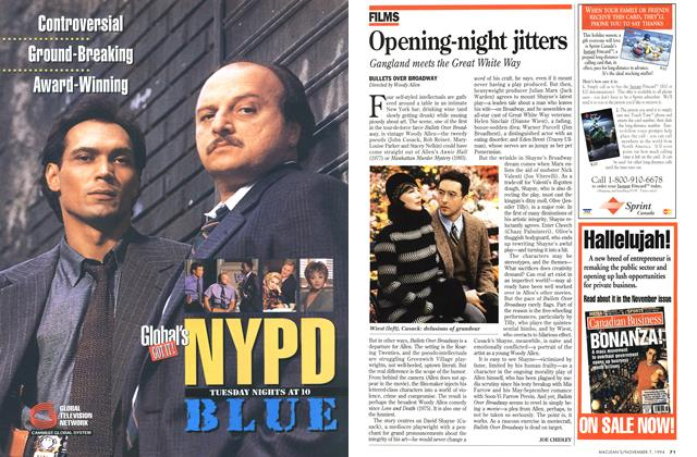 Article Preview: Opening-night jitters, November 1994 | Maclean's