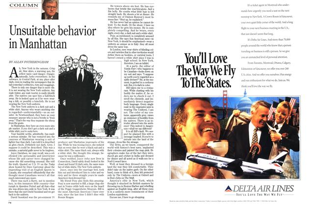 Article Preview: Unsuitable behavior in Manhattan, November 1994 | Maclean's