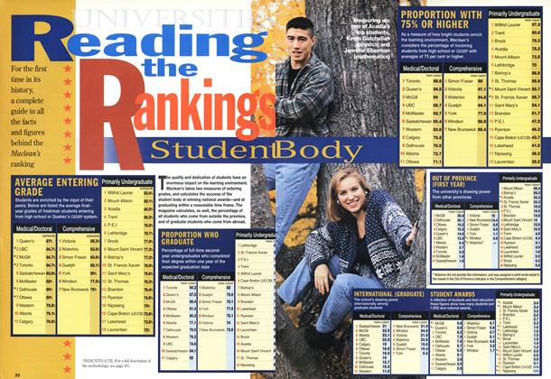Article Preview: Reading the Rankings, November 1994 | Maclean's
