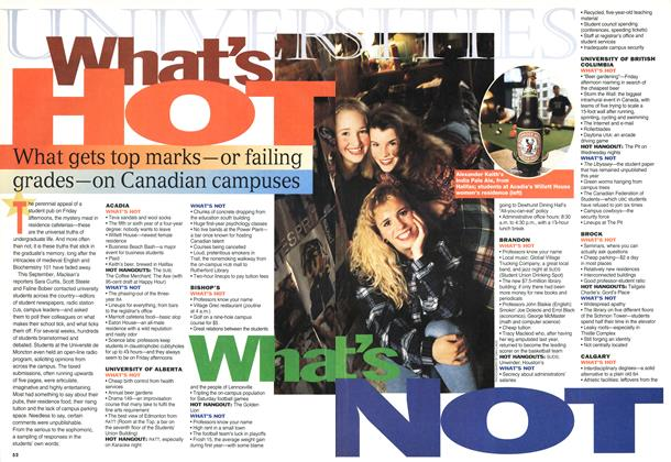 Article Preview: What's HOT What's NOT, November 1994 | Maclean's