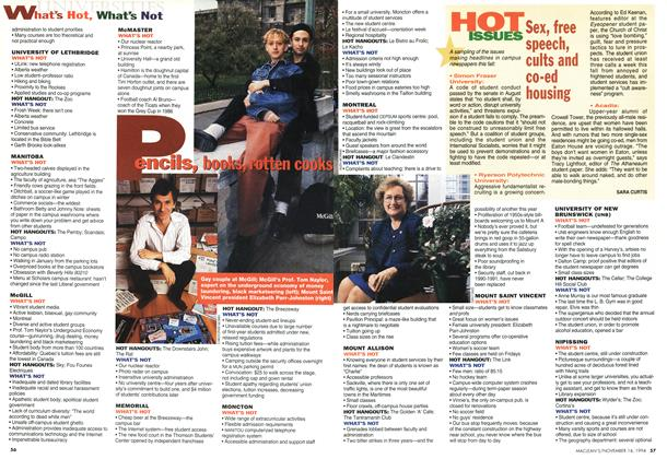 Article Preview: HOT ISSUES, November 1994 | Maclean's