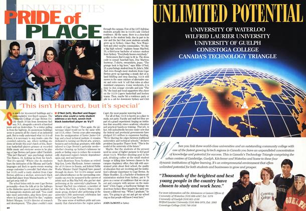 Article Preview: PRIDE of PLACE, November 1994 | Maclean's