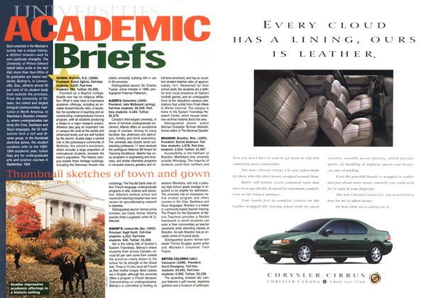 Article Preview: ACADEMIC Briefs, November 1994 | Maclean's