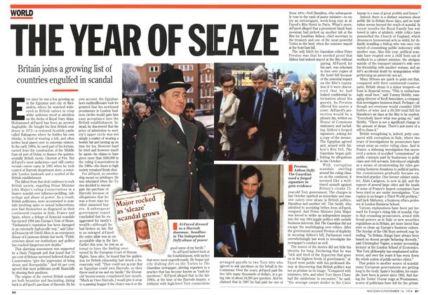 Article Preview: THE YEAR OF SLEAZE, November 1994 | Maclean's