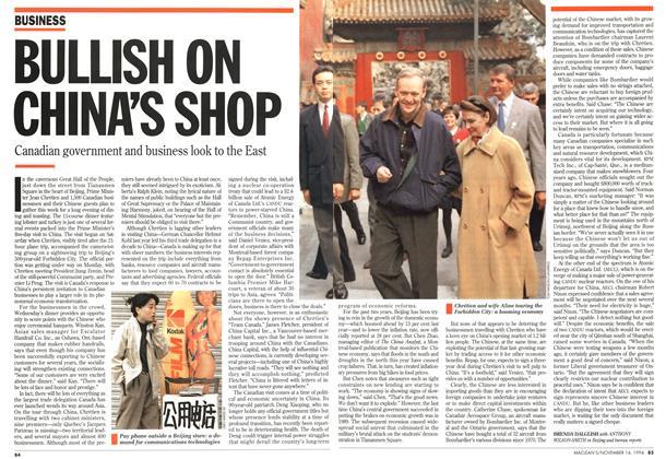 Article Preview: BULLISH ON CHINA'S SHOP, November 1994 | Maclean's