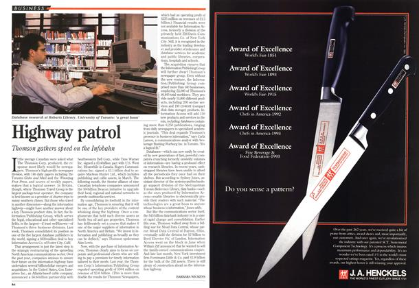 Article Preview: Highway patrol, November 1994 | Maclean's