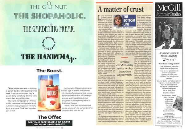 Article Preview: A matter of trust, November 1994 | Maclean's