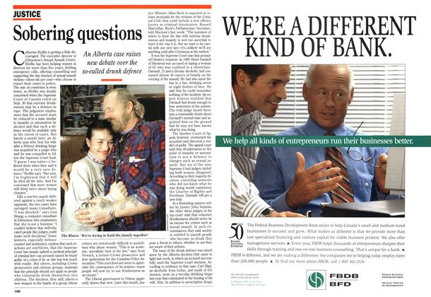 Article Preview: Sobering questions, November 1994 | Maclean's